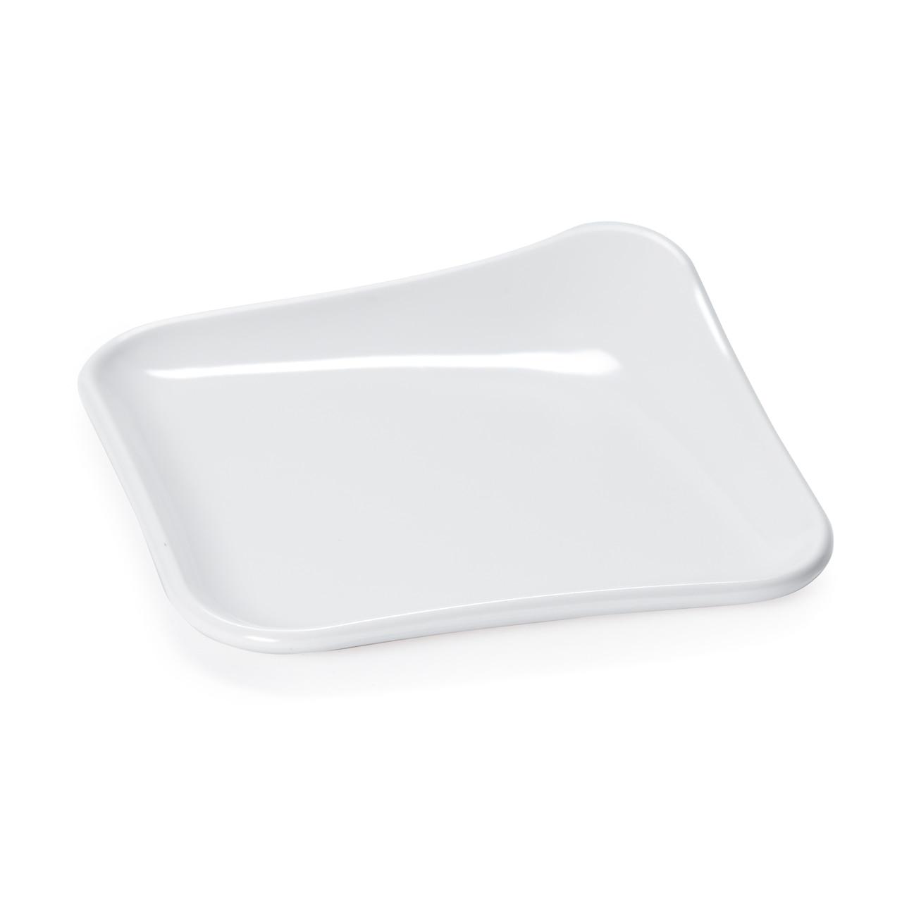 "4"" Melamine Square Plate"