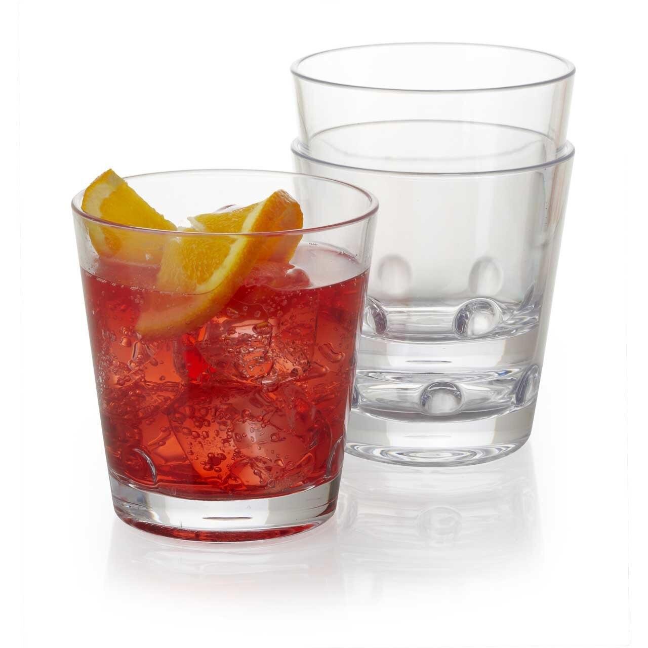 9, 12, or 16 oz. Plastic Drinking Glass, Set of 4 - Loft